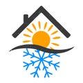 Snowflake and sun home