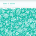 Snowflake texture horizontal torn seamless pattern vector colorful background with drawn snowflakes on light blue background Royalty Free Stock Images