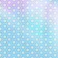 Snowflake tiled pattern blue purple and white snowflakes seamless or background Royalty Free Stock Photography