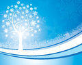 Snowflake tree background an illustration of a light coloured good for christmas and festive occasions Royalty Free Stock Photos