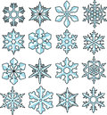 Snowflake vector Royalty Free Stock Images