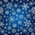Snowflake vector seamless pattern.