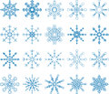 Snowflake vector set abstract art Stock Photos
