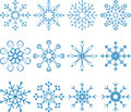 Snowflake vector set abstract art Royalty Free Stock Photography