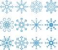 Snowflake vector set abstract art Royalty Free Stock Photography