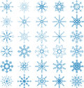Snowflake vector set abstract art decor Royalty Free Stock Image