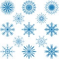 Snowflake vector set abstract design Stock Image
