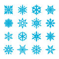 Snowflake vector set for your design Royalty Free Stock Photography