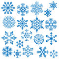 Snowflake Vectors Royalty Free Stock Photo