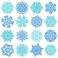 Snowflake vectors isolated on white background set of elements template for christmas winter design Royalty Free Stock Photos