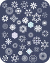 Snowflake White Set Stock Photos