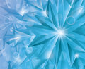 Snowflake winter abstract crystal background Stock Images