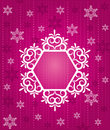 Snowflake winter background. Royalty Free Stock Images