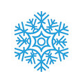 Snowflake winter isolated on white background. Blue icon silhouette. Vector illustration for Christmas design. New Year sign.