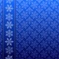 Snowflake winter pattern Royalty Free Stock Image