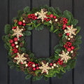 Snowflake Wreath Royalty Free Stock Photo