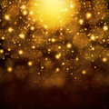 Snowflakes on abstract gold background new year s Stock Photography