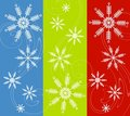 Snowflakes Background Designs Stock Images