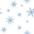 Snowflakes background pattern Royalty Free Stock Photos