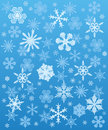 Snowflakes background winter Stock Images