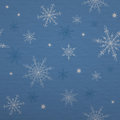 Snowflakes on blue  background with paper texture Royalty Free Stock Images