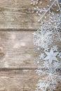 Snowflakes border Royalty Free Stock Photo