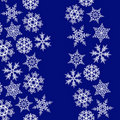 Snowflakes borders with copy space. Stock Photo