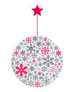 Snowflakes christmas ball a made up of different isolated on white background useful also as greeting card eps file available Royalty Free Stock Photography