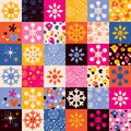 Snowflakes Christmas pattern Royalty Free Stock Photos