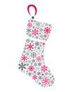 Snowflakes Christmas Sock