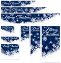 Snowflakes christmas web banners nine snowflake with copy space Royalty Free Stock Images
