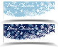 Snowflakes christmas web banners snowflake with copy space Royalty Free Stock Image