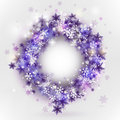 Snowflakes in circle frame Royalty Free Stock Photo