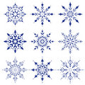 Snowflakes collection Royalty Free Stock Photography