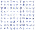 Snowflakes collection of vector Royalty Free Stock Images