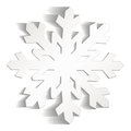 Snowflakes cut from paper Royalty Free Stock Photo