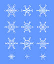 Snowflakes decor Royalty Free Stock Images