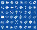 Snowflakes design set abstract mixed white on blue background Stock Photography
