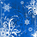 Snowflakes flowers background Stock Image