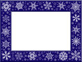 Snowflakes frame Stock Photography