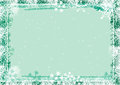 Snowflakes frame background with grungey snowflake border Royalty Free Stock Photo