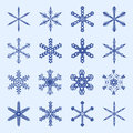 Snowflakes and icicles winter vector set