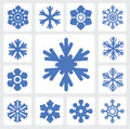 Snowflakes icon Stock Photo