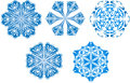 Snowflakes icon collection Stock Photography