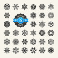 Snowflakes icon set vector collection web Royalty Free Stock Images