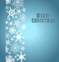 Snowflakes merry christmas card snowflake background with copy space Stock Image