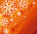 Snowflakes-orange Royaltyfri Foto