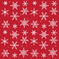 Snowflakes pattern bright packaging with celebratory Royalty Free Stock Photography