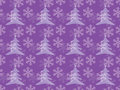 Snowflakes pattern with christmas trees seamless Royalty Free Stock Image
