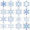 Snowflakes poured by different colours Royalty Free Stock Photo